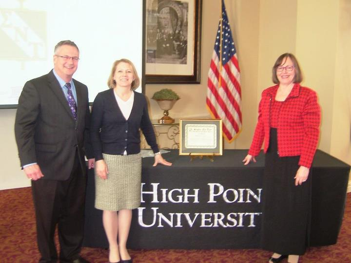 High Point University Chapter Faculty and SNT Founder, Nancy Church